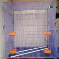 kandang burung kotak besi jumbo,bisa untuk ayam(bisa di lipat)