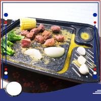 001X Korean Koki Grill Pan Marble, alat panggang serbaguna