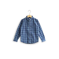 ORAMI - Feather & Flynn Connor Long Sleeve Shirt in Navy Checked - XS