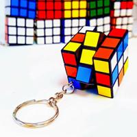 Rubik 3x3 Mini Keychain 3.0mm 3x3 Black Base