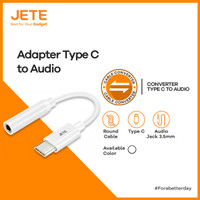 Kabel Adapter Type C to Jack Audio JETE Connector Converter Adapter