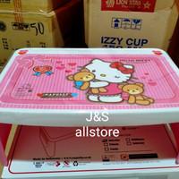 Meja lipat anak / meja belajar anak / Desk plastik Hello Kitty