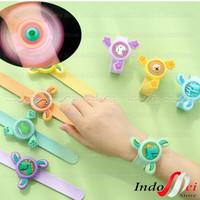 Mainan Anak Fidget Spinner Gelang Jam Tangan Anti Nyamuk + LED + SPIN