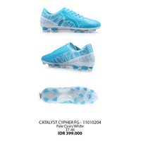 Sepatu bola Ortuseight original Catalyst cypher FG pale cyan white