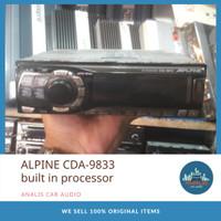 Head Unit Single Din ALPINE CDA-9833 built in processor Tape Mobil