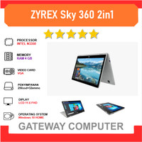 Laptop ZYREX Sky 360 2in1 Touch N3350 4GB 256ssd+32emmc 11.6FHD Win10