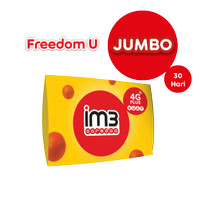IM3 OOREDOO STARTER PACK - FREEDOM U Jumbo 60GB/ 30 Hari