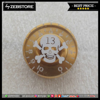 Knob Gitar Design Skull Gold XN-16