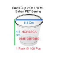 Small Cup / Cup Tester Plastik SIP 60 ML (2 Oz) - @100 Pcs