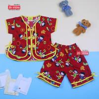 Baju Sanghai uk bayi - 4 Tahun / Baju Imlek Balita - Celana Rok Anak