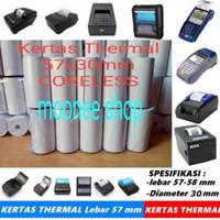 Kertas Thermal 57 x 30 / 57x30 / 58 x 30 / 58x30 mm Polos per 1 Hitam
