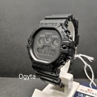 Jam Tangan Pria DIGITEC Digital Strap Karet Hitam DG-3090T Original