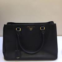 Prada Saffiano Lux Nero Bag Authentic