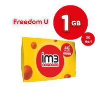 IM3 OOREDOO STARTER PACK - FREEDOM U 1GB+4.5GB Apps / 30 Hari