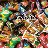 Gantungan Kunci Miniatur Snack Unik