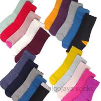 (paket 4 pasang) kaos kaki anak PAUD/TK DAN SD panjang warna polos