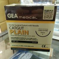 Catgut plain 3/0 + jarum