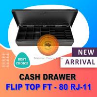 LACI KASIR / FLIP TOP CASH DRAWER/ BUKA ATAS / FT-80 RJ-11 Kokoh Murah
