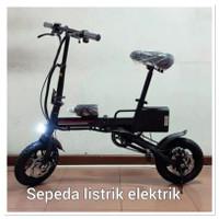 """Sepeda Listrik lipat DJG ELEKTRIK dan manual (12""""inch) Anak dan dewasa"""