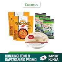 PROMO Paket Komplit 2 Tokpoki + CJ Nasi Instant + Ock Dong Ja Sheet
