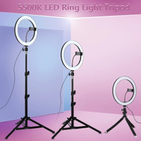 RING LIGHT STAND 26CM TRIPOD 2.1M SELFIE VLOGGER YOUTUBE