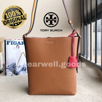 perrly leather bucket bag