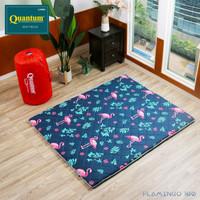 Quantum Kasur Lantai Uk.160 x 200 Flaminggo - Busa Lipat Gulung Travel
