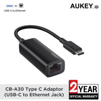 Aukey CB-A30 Type C Adaptor (USB-C to Ethernet Jack) - 500583