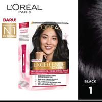 L'Oreal Paris Excellence Creme 1 Cat Rambut - Black