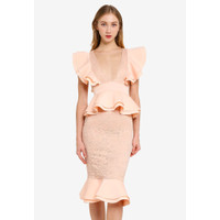 "Dress Import Merk Inggris ""Missguided"" Lace Ruffle UK Size 14(M)"