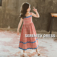 BAJUKIDDIE SERENITY DRESS anak perempuan dress casual korea terusan - Size 160