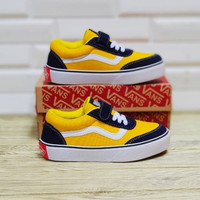 SEPATU SNEAKERS ANAK VANS OLD SKOOL BLACK YELLOW BNIB