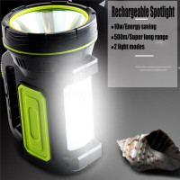 Senter LED Super Bright Rechargeable 10W 13500 Lumens Kemping Mancing