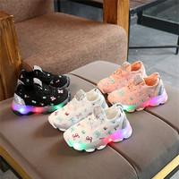 Sepatu Sneakers Anak LED Import Premium jktspt10