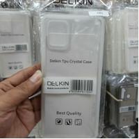 silicone anti crack delkin crystal case samsung a81 anti shock
