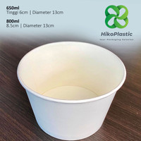 Paper Bowl 650ml Mangkok Kertas Murah Kualitas Terbaik