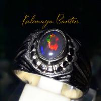 cincin kalimaya banten asli/kalimaya black opal banten/batu kalimaya