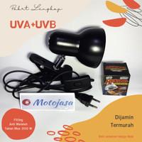 Paket Lampu Uva+Uvb dan Fitting Import Tahan Panas Anti meleleh