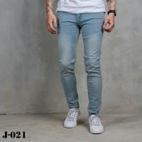 Jeans Pria Skinny Blue Retro Wishker P&B Premium
