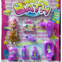 BEAUTIFUL BATH - SET MAINAN BONEKA BERBIE ALAT SALON