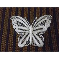 Bros Kupu-kupu Sepuh Perak Berbahan Dasar Tembaga Model BPT39