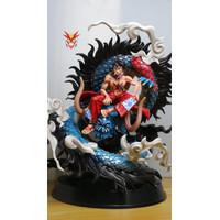 PVC GK Statue Figure Luffy Kabuki Vs Kaido Naga Shenlong One Piece