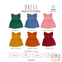 ARDENLEON Baju Dress Ruffle - Dress Anak