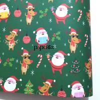 Kertas Kado Natal Santa Claus Sinterklas Hiasan