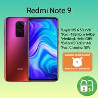 Xiaomi Redmi Note 9 Ram 4/64 Garansi Resmi - Putih