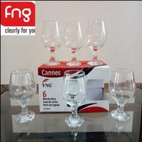 1 SET 6 PCS GELAS COGNAC/GELAS BRANDY/FIRNA GLASS/GELAS KAKI/STEMWARE