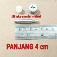 SKRUP BAUT MINIFIX 4 cm / MINIFIK MEBEL 40 mm SOCKET CASING
