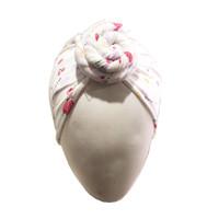 Turban Anak dan Bayi Topi Turban Bayi - Warna Putih Bermotif