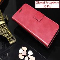 Xiaomi Pocophone F2 Pro Flipcase Leather Case Casing Slot Kartu Cover