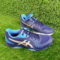 Sepatu Tenis Tennis Asics Gel Challenger Dark Blue Original